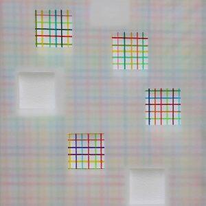Œuvres sur papier 2017 - Crayons de couleur, papier et papier calque. 33x26 cm.