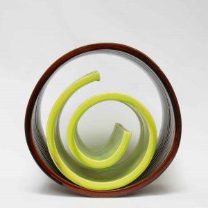 Spirale verde Grès émaillé 2006