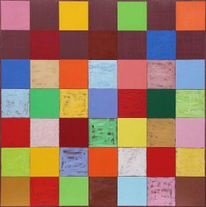 Marrone - Acrylique sur toile - 220x220cm - 2001.