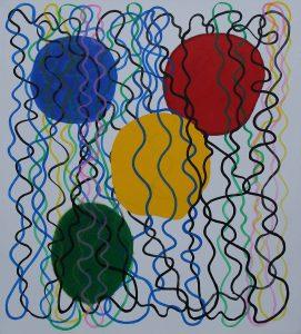 Festa - Acrylique sur toile - 210x190cm - 2004.