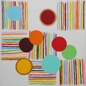 Ballo primaverile - Acrylique sur toile - 100x100cm - 2006.