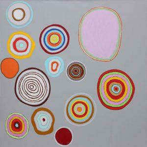 Suoni e un segreto - Acrylique sur toile - 240x240cm - 2007.