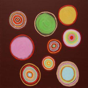 Folle passione - Acrylique sur toile - 100x100cm - 2010.