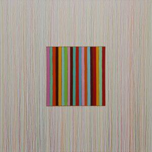 l'istante - Acrylique et crayon sur toile - 100x100cm - 2011.