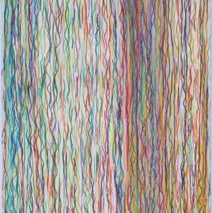Crayons de couleur sur papier - 103x66cm